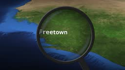 Loupe finds Freetown city on the map