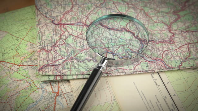 Loupe on Map