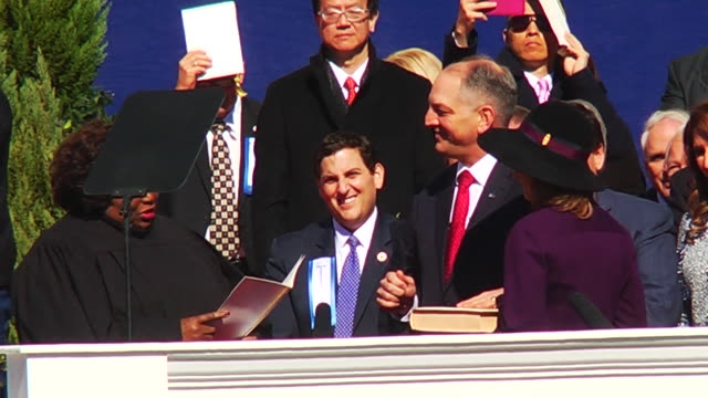 lousiana governor john bel edwards inauguration - 長点の映像素材/bロール