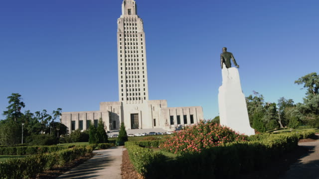 Lousiana State Capitol Building and Huey Long memorial, Baton Rouge, USA