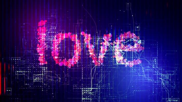 vidéos et rushes de fond nuage lettres d'amour - illustration