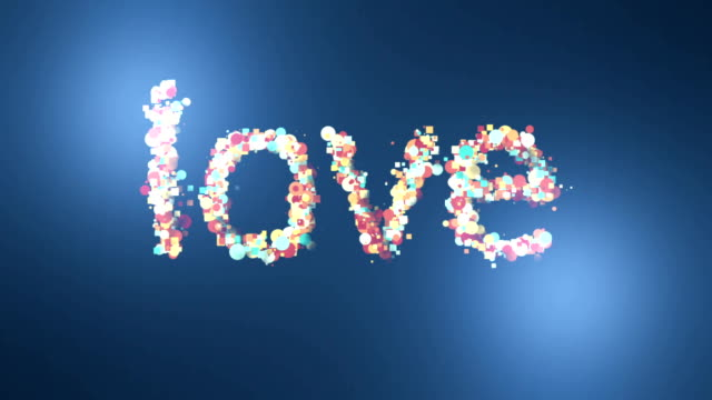 love background cloud letters
