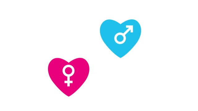 love concept - gender symbol stock videos and b-roll footage