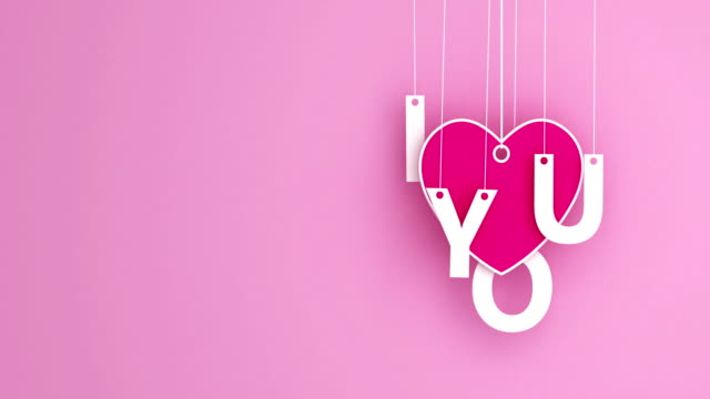 love - emotion romance origami pendant swaying - pendant stock videos & royalty-free footage
