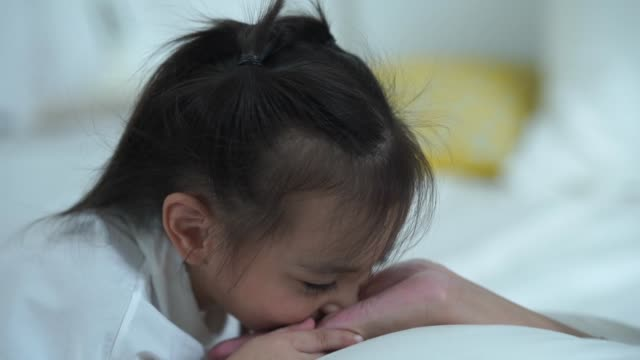 love eternity concept , daughter kissing mother's hand