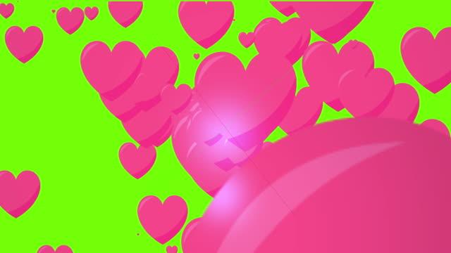 vidéos et rushes de explosion d'amour - coeur