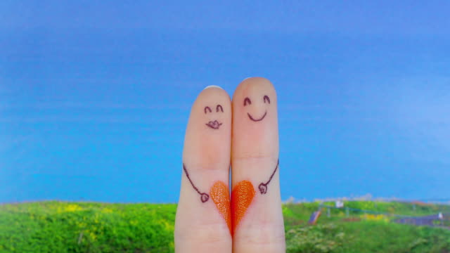 Love, finger concept