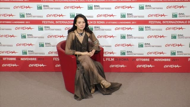 Photocall Zhang Ziyi Love for life Photocall on November 02 2011 in Rome Italy