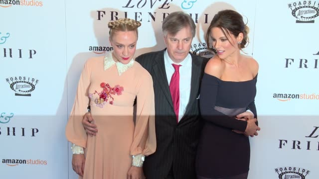 "love & friendship"" new york screening at landmark sunshine cinema on may 10, 2016 in new york city. - ランドマークサンシャインシアター点の映像素材/bロール"