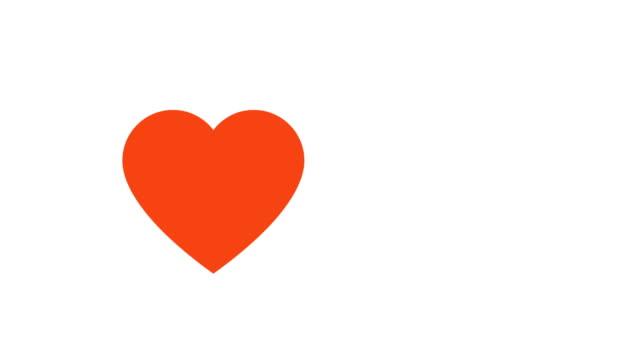 vídeos de stock e filmes b-roll de love heart beating illustrative cinemagraph style - coração