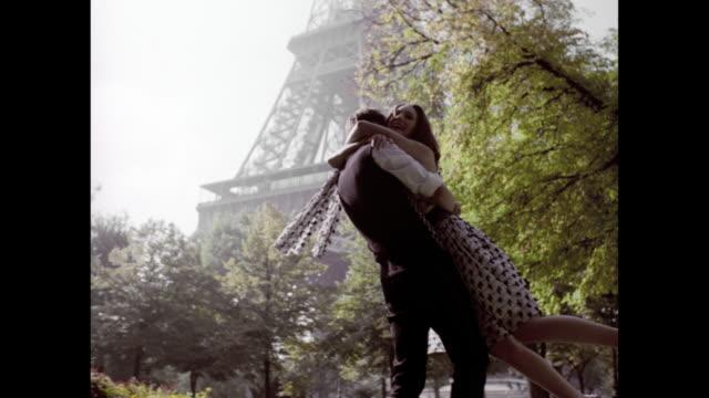 love in paris - romantic activity stock videos & royalty-free footage