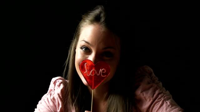 love lollipop - lollipop stock videos & royalty-free footage