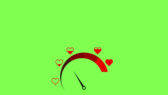 love meter. valentine's day card design element. - gauge stock videos & royalty-free footage