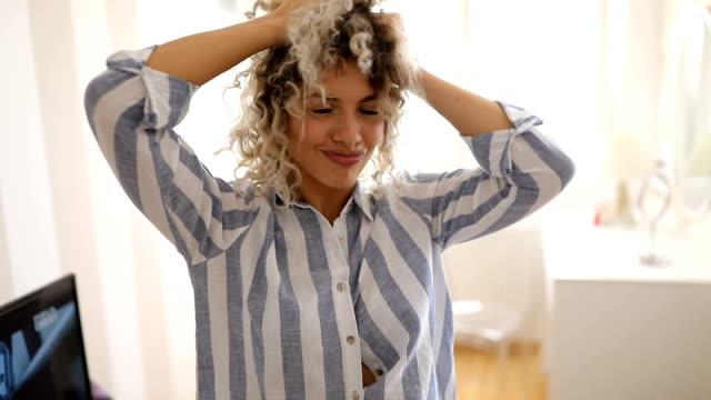 i love morning - nightdress stock videos & royalty-free footage