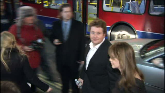 'love never dies' premiere at the adelphi theatre in london shows exterior night shots of michael ball getting out of car arriving at the premiere - adelphi theatre stock videos & royalty-free footage