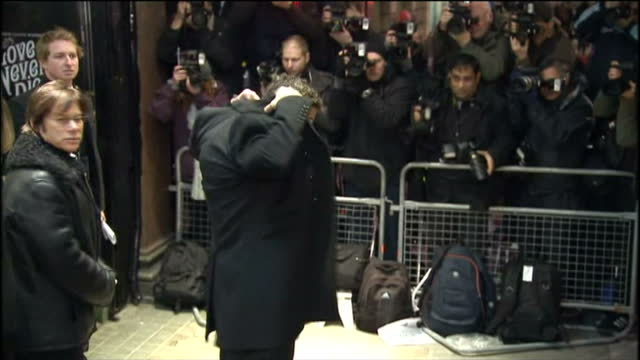 'Love Never Dies' Premiere at the Adelphi Theatre in London Shows exterior night shots of Gerard Butler arriving at the theatre and posing for...