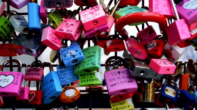 Love of lock Landmark at seoul tower in Korea