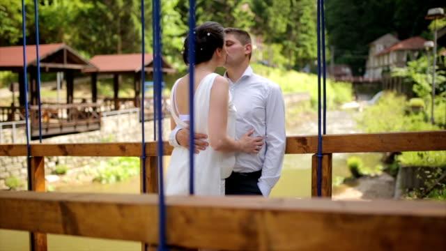 love on the bridge - musical instrument bridge stock videos & royalty-free footage