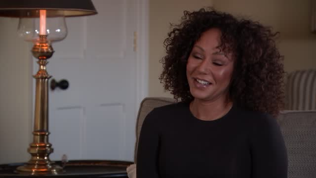 'love should not hurt': mel b interview; england: london: int melanie brown interview sot q: using creativity to tell this story - about music,... - passion stock videos & royalty-free footage