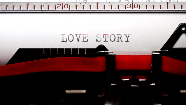 love story - typing with a retro style typewriter - i love you stock videos & royalty-free footage