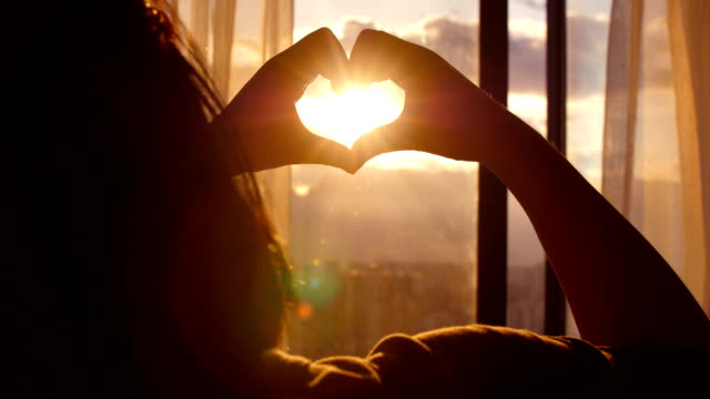 love sunset - heart shape stock videos & royalty-free footage