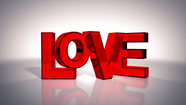 3d love text - adobe after effects stock videos and b-roll footage
