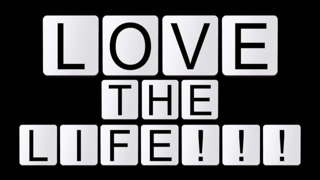 love the life!!! - design element stock videos & royalty-free footage