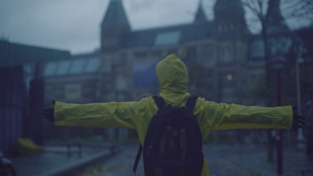 love the rain - raincoat stock videos & royalty-free footage