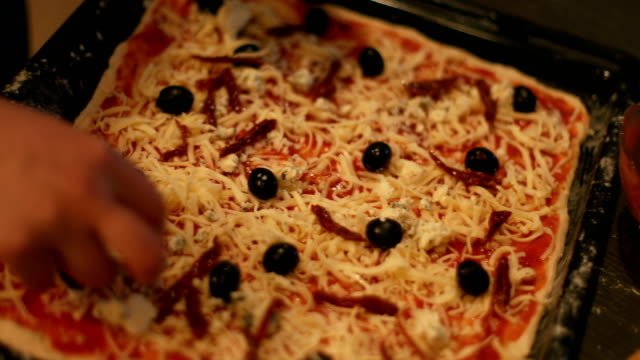 love those pizza ingredients! - baking tray stock videos & royalty-free footage