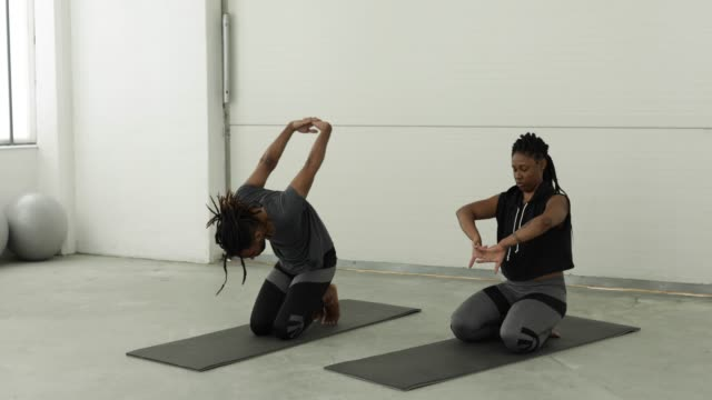 love to exercise together - exercise mat stock videos and b-roll footage