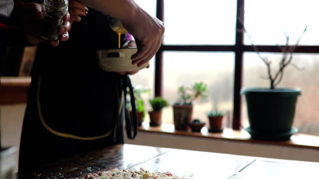 love weekend cooking together - group of objects stock videos and b-roll footage
