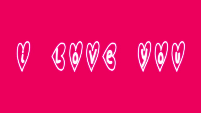 4k i love you animation - i love you stock videos & royalty-free footage