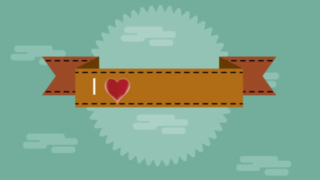 i love you in red letters on a vintage background with a red heart,video animation - i love you stock videos & royalty-free footage