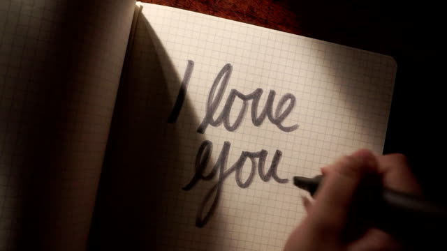 love you note   ro - correspondence stock videos & royalty-free footage