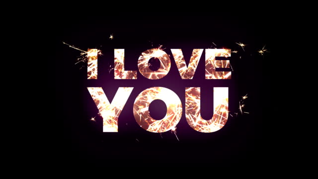i love you text made of bengal lights - i love you stock videos & royalty-free footage
