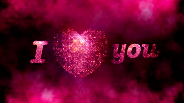 i love you with bokeh background - i love you stock videos and b-roll footage