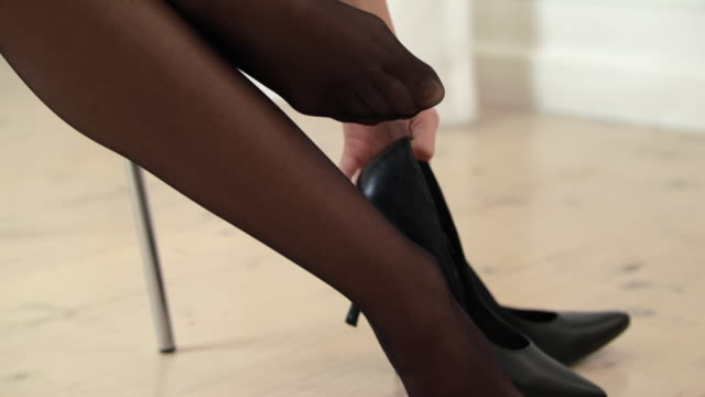 lovely in lace and heels - tights stock videos & royalty-free footage