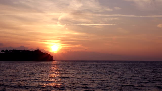 lovely sunset in the sea - aydın province stock videos and b-roll footage
