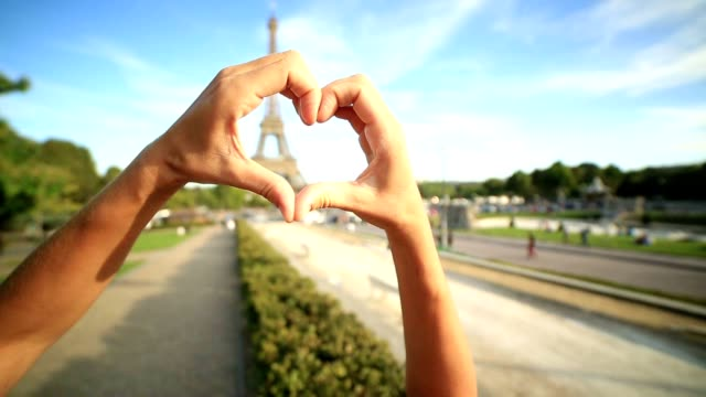 love-paris-heart - human finger stock videos & royalty-free footage