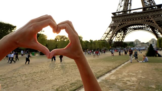love-paris-heart - human finger stock videos and b-roll footage
