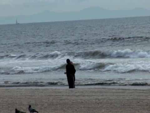 bacio sulla spiaggia - audio available video stock e b–roll