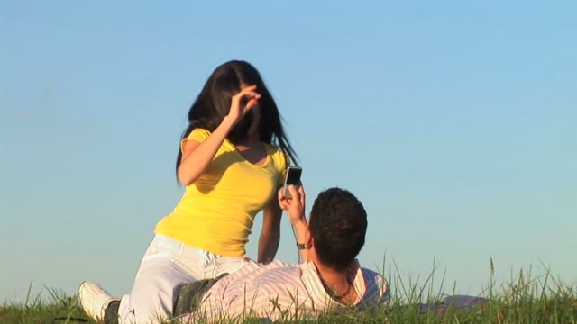 HD: Lovers Taking Photos With Cell
