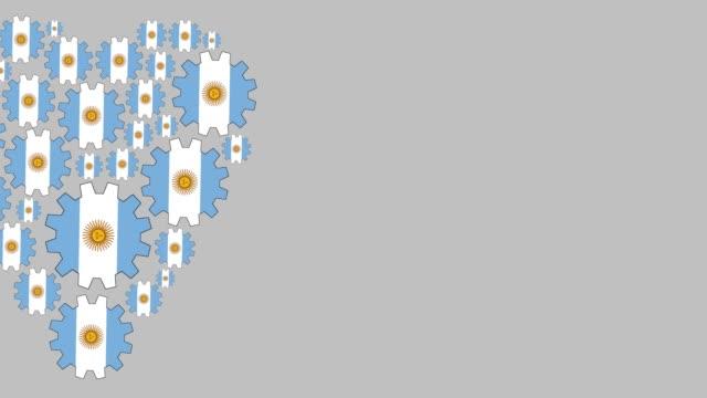 vídeos y material grabado en eventos de stock de amor argentina - bandera argentina