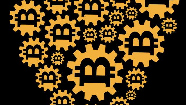 stockvideo's en b-roll-footage met liefdevolle bitcoins - letter b