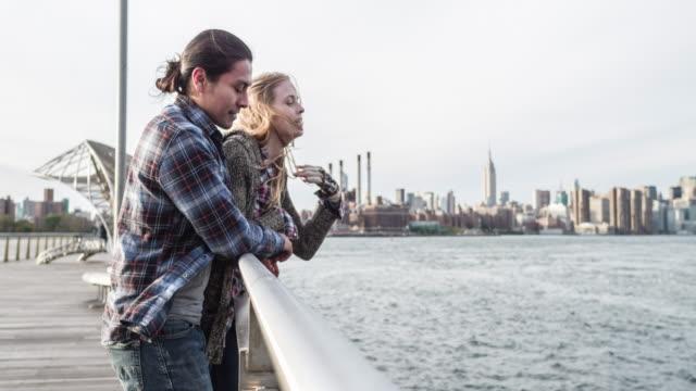 Loving couple enjoying the views of New York City