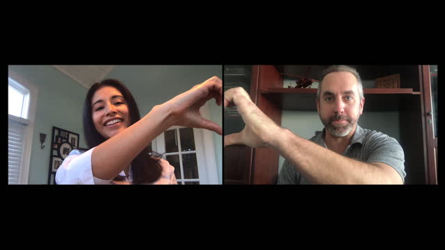 loving husband and wife in a long-distance relationship create heart shapes with their hands - husband stock videos & royalty-free footage