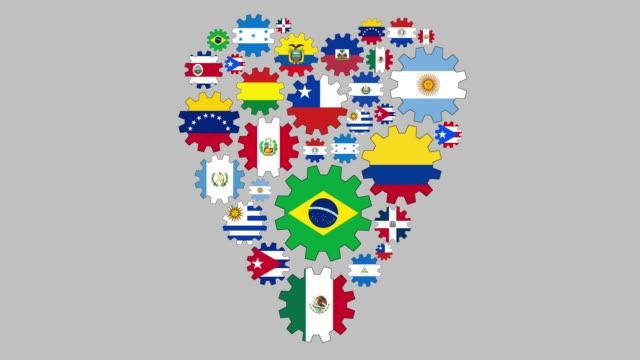 liebendes lateinamerika - argentinische flagge stock-videos und b-roll-filmmaterial