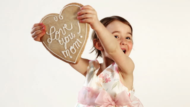 loving mom cookie - mother's day stock videos & royalty-free footage