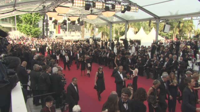 atmosphere 'loving' red carpet at grand theatre lumiere on may 16 2016 in cannes france - grand theatre lumiere stock videos & royalty-free footage