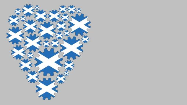 loving scotland - scottish flag stock videos & royalty-free footage